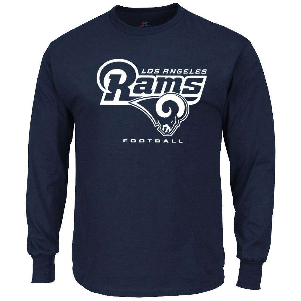 ceb98b1b Los Angeles Rams Majestic NFL Critical Victory Long Sleeve T-Shirt - Navy