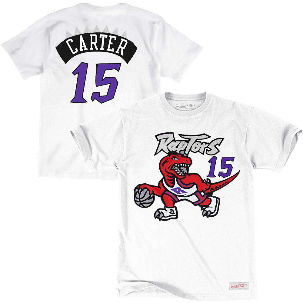 low priced c6c86 e0eab Vince Carter Toronto Raptors Mitchell & Ness NBA Player T-Shirt - White
