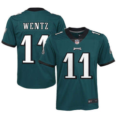 Youths Carson Wentz Philadelphia Eagles Nike NFL Game Jersey - Green