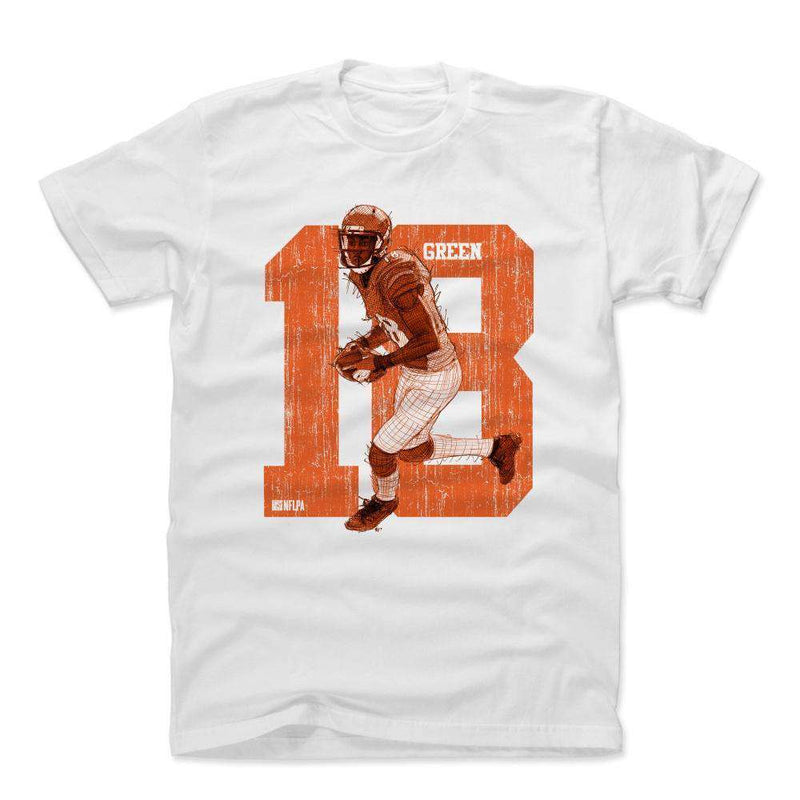 AJ Green Cincinnati Bengals 500 Level NFL Sketch T-Shirt - White
