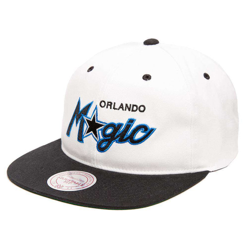 Orlando Magic Mitchell & Ness NBA Retro Script Snapback Hat - White