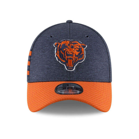 Chicago Bears New Era NFL 2018 Sideline CC 39THIRTY Stretch-Fit Curved Hat - Navy