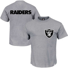Oakland Raiders Majestic NFL Gamily Logo T-Shirt - Grey