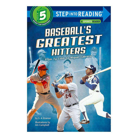 Kids Baseball's Greatest Hitters MLB Step into Reading Paperback Book