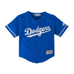 Boys Los Angeles Dodgers Majestic MLB Cool Base Replica Jersey - Blue