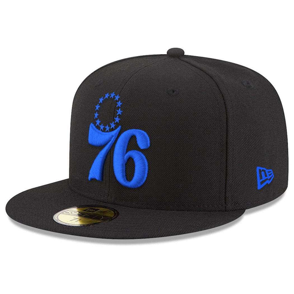 reputable site 2ab89 57a8d Philadelphia 76ers New Era NBA Team Pop 59FIFTY Fitted Hat - Black