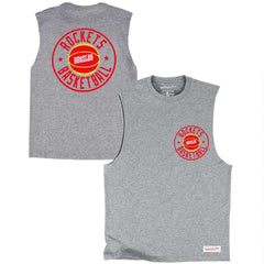 Houston Rockets Mitchell & Ness NBA Full Circle Muscle T-Shirt - Grey