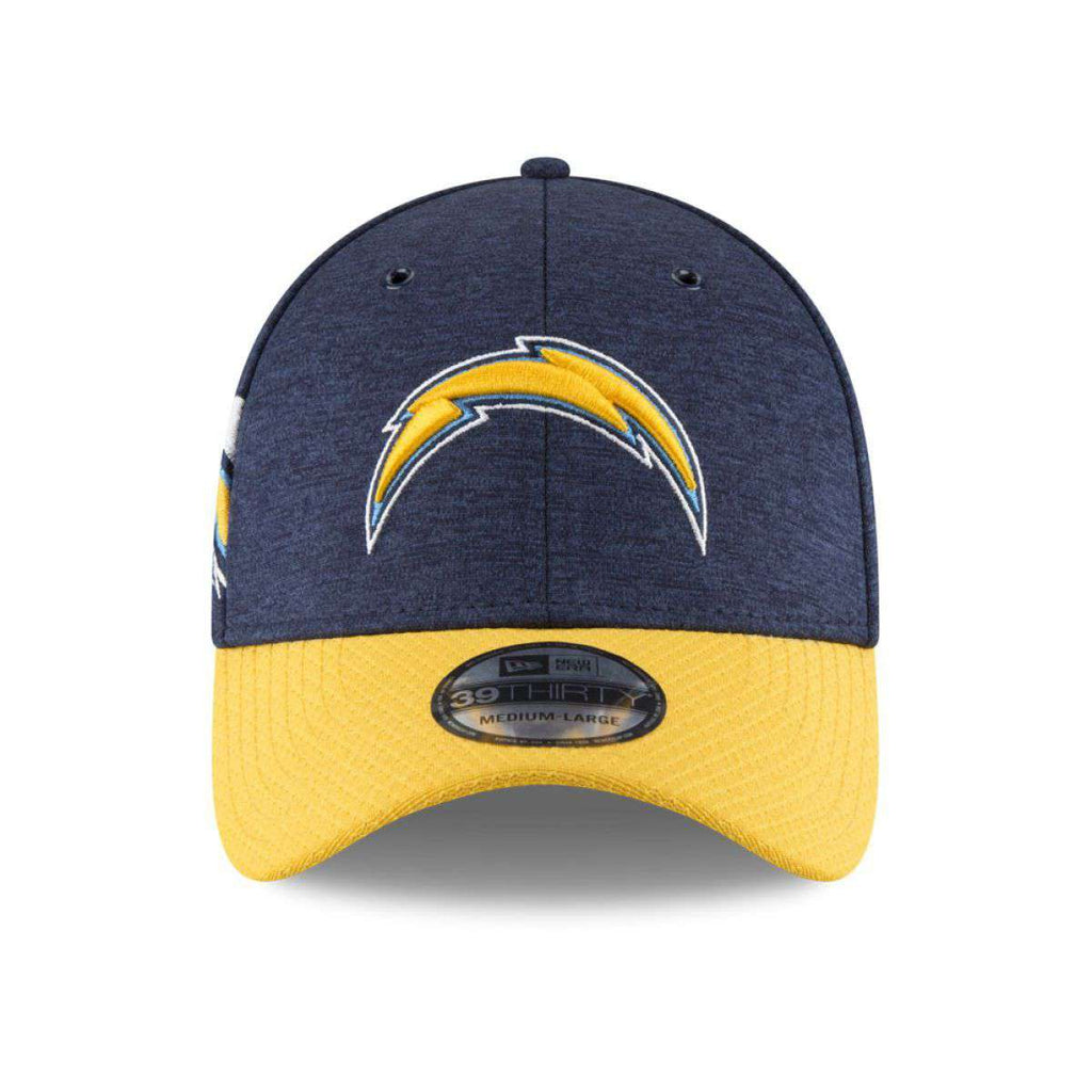 ... italy los angeles chargers new era nfl 2018 sideline 39thirty stretch  fit curved hat navy a8ec2 99a77dead