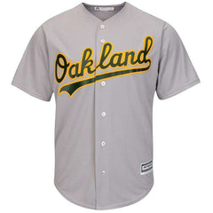 Oakland Athletics Majestic MLB AC Cool Base Replica Jersey - Grey