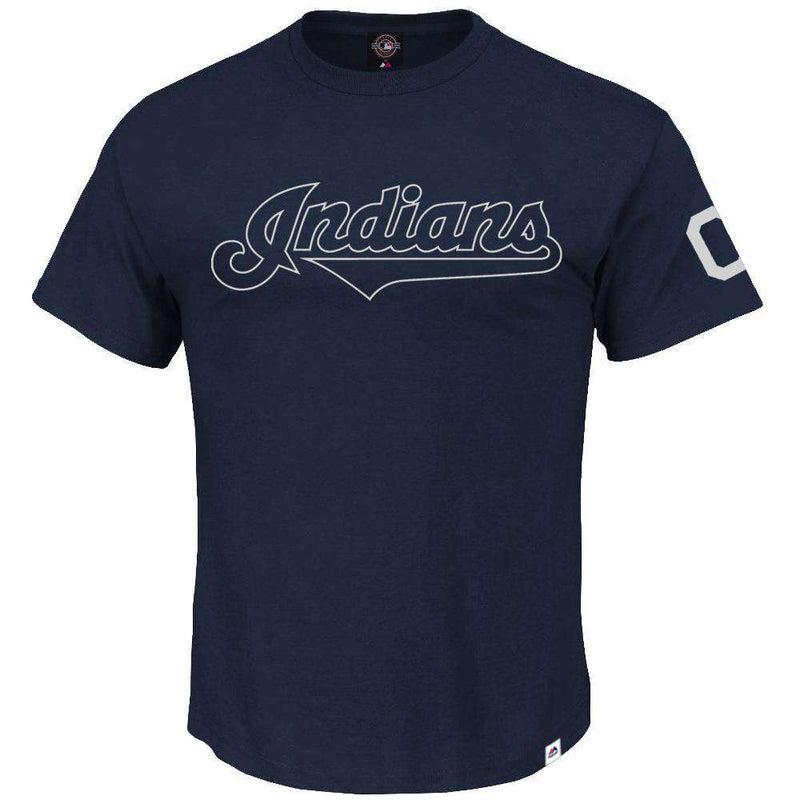 Cleveland Indians Majestic MLB Complete T-Shirt - Navy