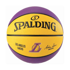 Youths Los Angeles Lakers Spalding NBA Size 6 Outdoor Team Basketball Ball