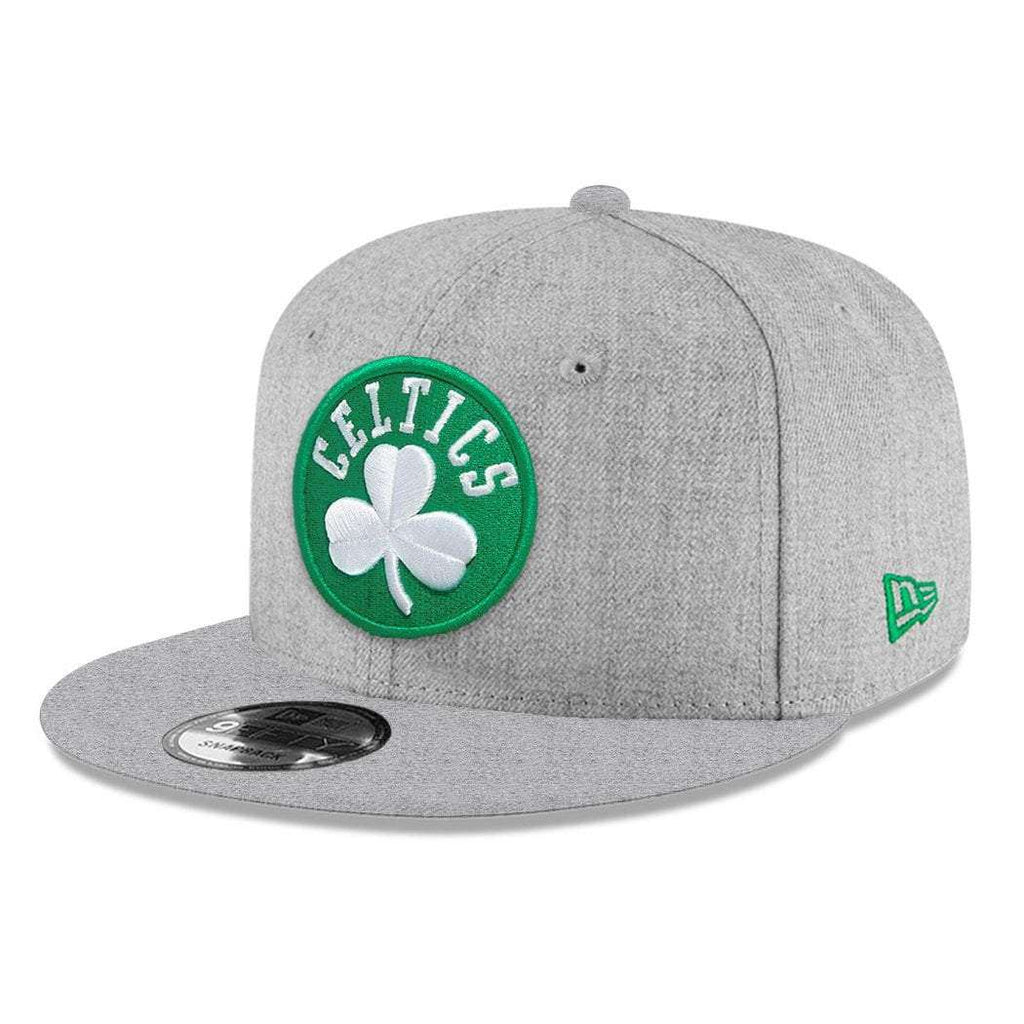 new style c6477 47676 Youths Boston Celtics New Era NBA Heather Team 9FIFTY Snapback Hat