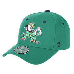 Notre Dame Fighting Irish Zephyr NCAA SF R Team Curved Pinch Snapback Hat - Green