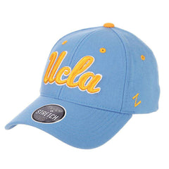 UCLA Bruins Zephyr NCAA ZH Team Classic Stretch Fit Curved Hat - Light Blue