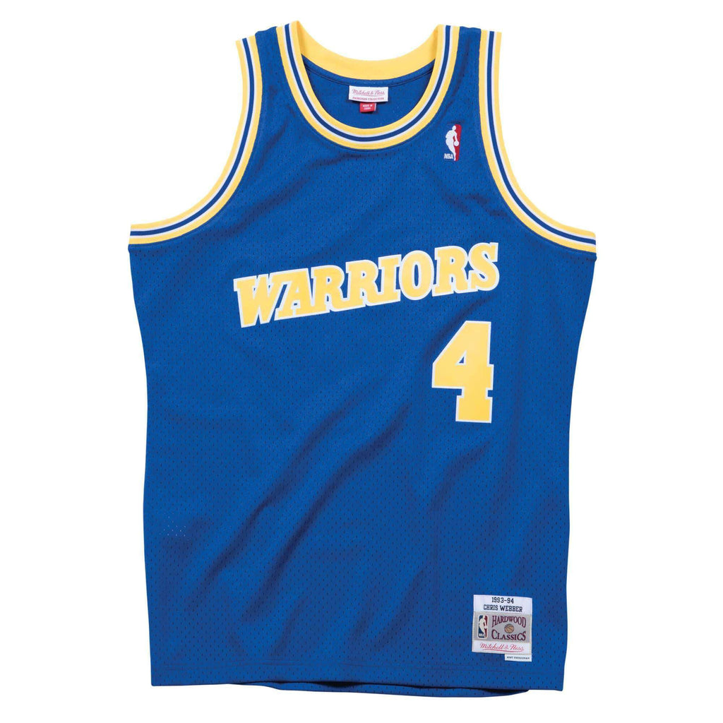 timeless design 4e4b3 8897b Chris Webber Golden State Warriors Mitchell & Ness NBA Swingman Jersey -  Blue