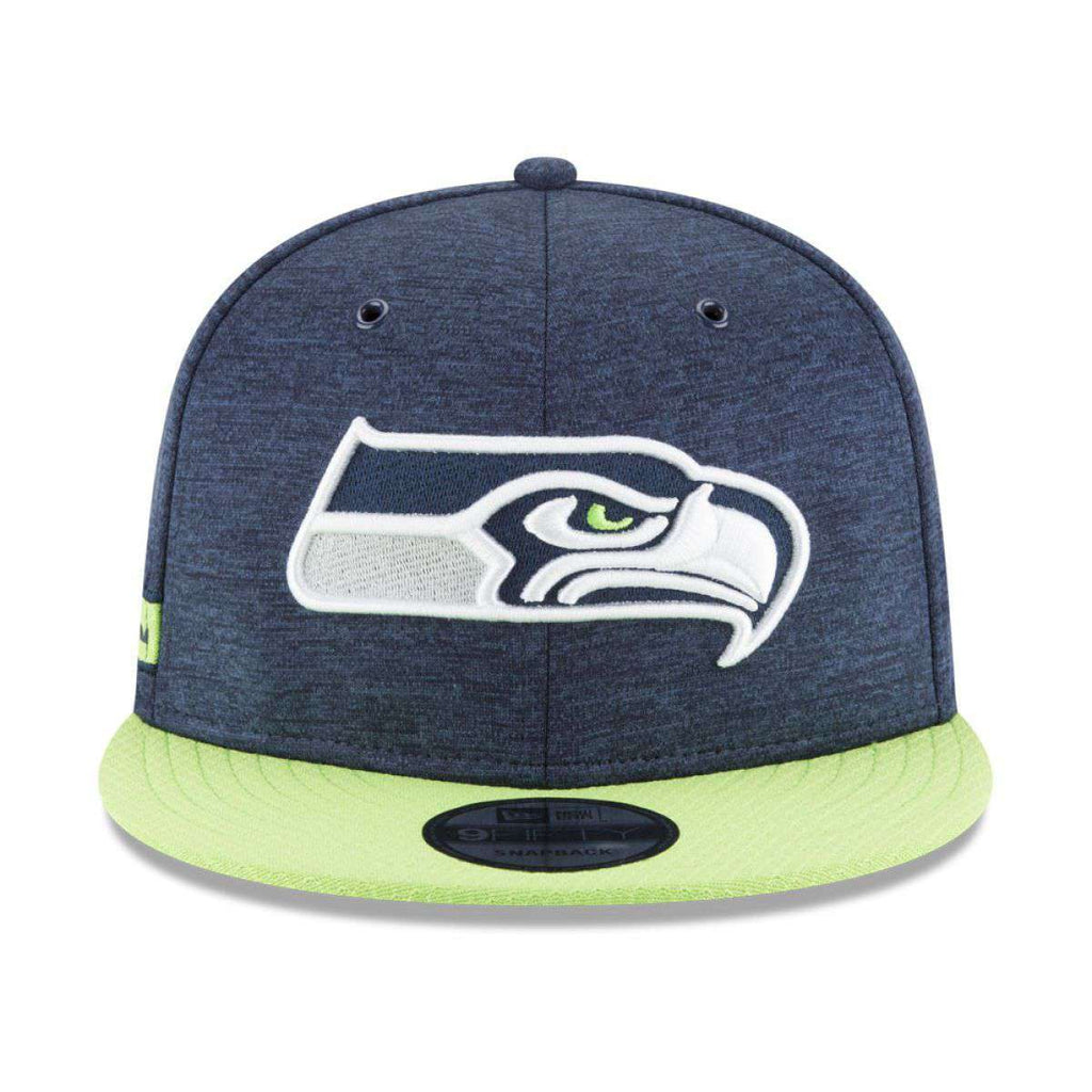 official photos 0102c 8fe1e Seattle Seahawks New Era NFL 2018 Sideline 9FIFTY Snapback Hat - Navy