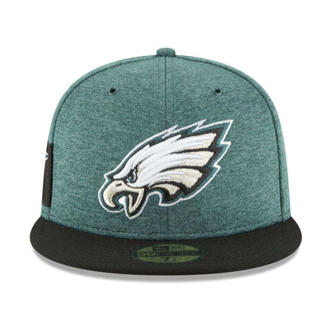 Philadelphia Eagles New Era NFL 2018 Sideline 59FIFTY Fitted Hat - Green