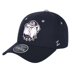 Georgetown Hoyas Zephyr NCAA ZH Team Classic Stretch Fit Curved Hat - Navy