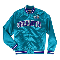 Charlotte Hornets Mitchell & Ness NBA Lightweight Satin Jacket - Teal