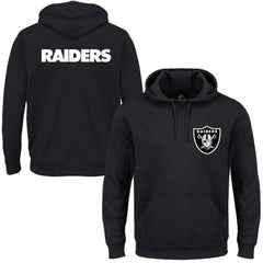 Oakland Raiders Majestic NFL Team Gamily Hoodie Jumper - Black ... c30760e58