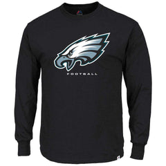 Philadelphia Eagles Majestic NFL Critical Victory Long Sleeve T-Shirt - Black