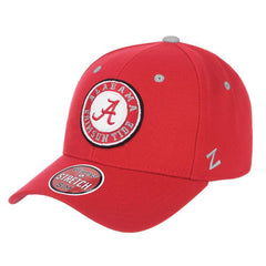 Alabama Crimson Tide Zephyr NCAA ZH Team Classic Stretch Fit Curved Hat - Dark Red