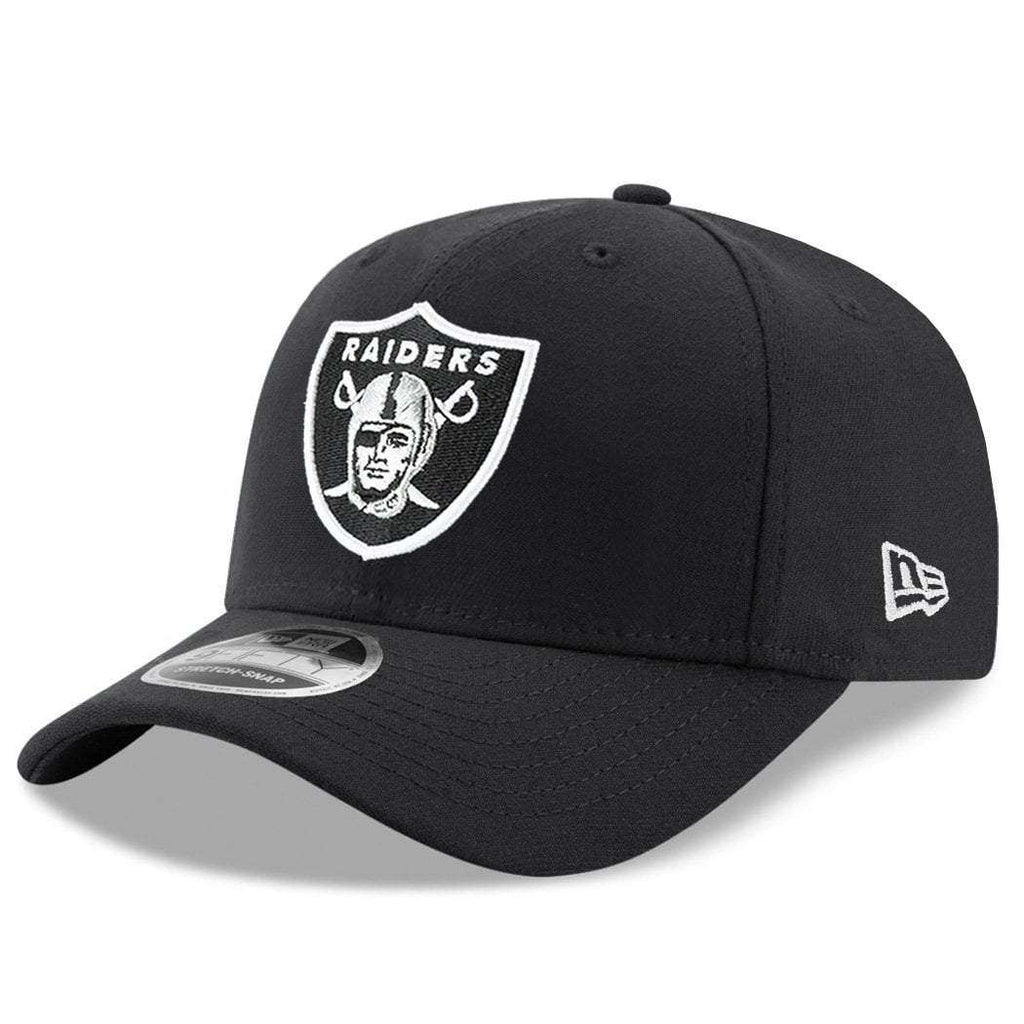 huge selection of a05f7 afe44 Oakland Raiders New Era NFL Team Stretch-Snap 9FIFTY Curved Snapback Hat -  Black