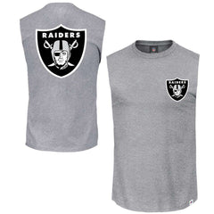 Oakland Raiders Majestic NFL Yisser Sleeveless Muscle T-Shirt - Grey