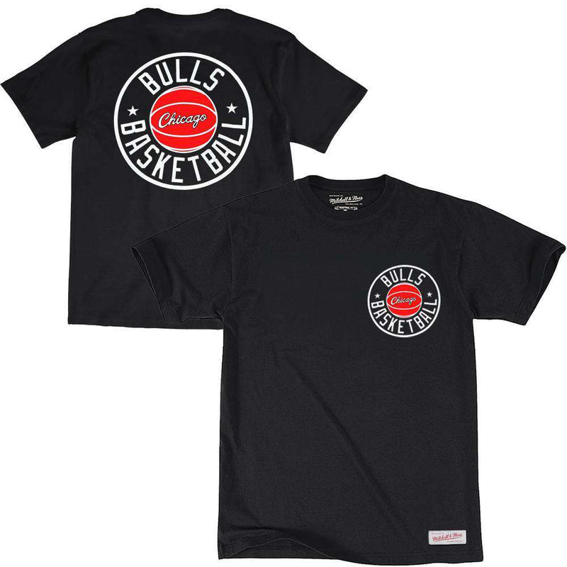 Chicago Bulls Mitchell & Ness NBA Full Circle T-Shirt - Black