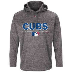 Chicago Cubs Majestic MLB Authentic Team Drive Hoodie - Granite