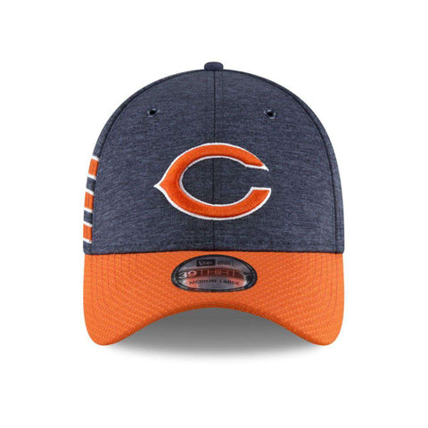 Chicago Bears New Era NFL 2018 Sideline 39THIRTY Stretch-Fit Curved Hat - Navy