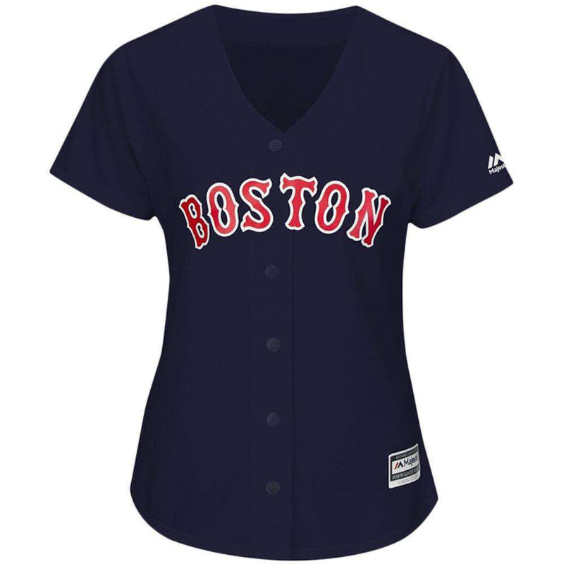 Womens Boston Red Sox Majestic MLB AC Cool Base Replica Jersey - Navy