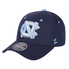 North Carolina Tar Heels Zephyr NCAA ZH Team Classic Stretch Fit Curved Hat - Navy