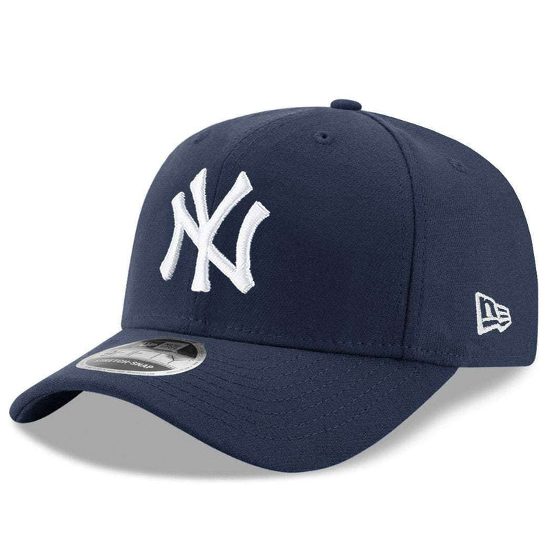 New York Yankees New Era MLB Team Stretch-Snap 9FIFTY Curved Snapback Hat - Navy