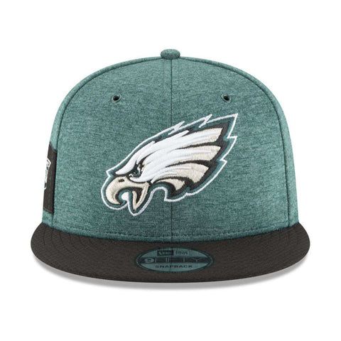 Philadelphia Eagles New Era NFL 2018 Sideline 9FIFTY Snapback Hat - Green