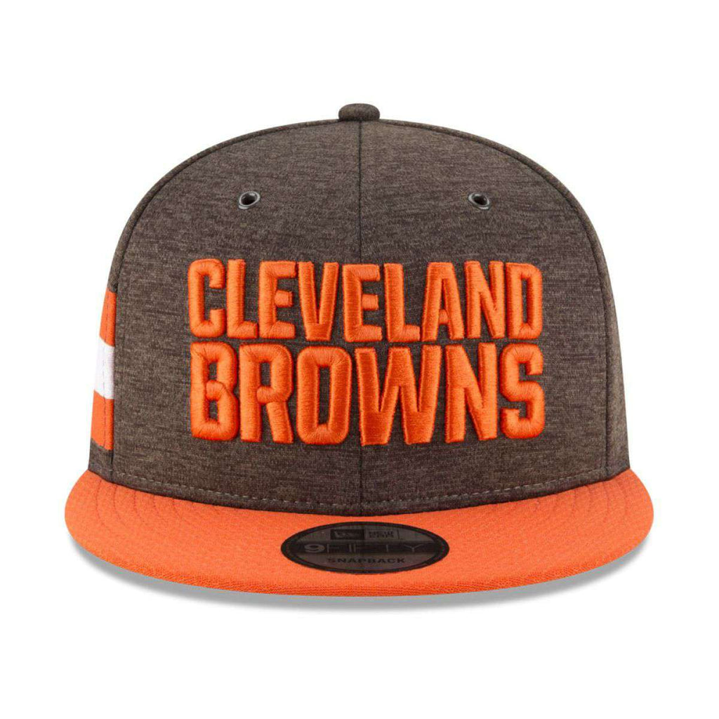93324ac30 Cleveland Browns New Era NFL 2018 Sideline 9FIFTY Snapback Hat - Brown