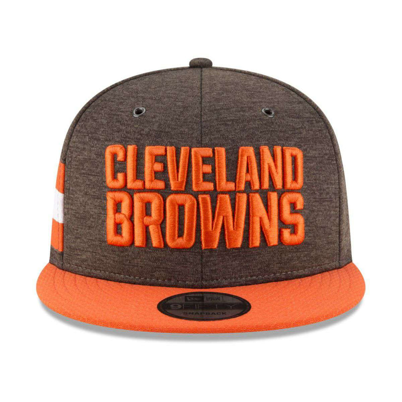 Cleveland Browns New Era NFL 2018 Sideline 9FIFTY Snapback Hat - Brown