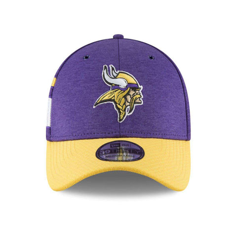 Minnesota Vikings New Era NFL 2018 Sideline 39THIRTY Stretch-Fit Curved Hat - Purple