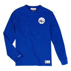 Philadelphia 76ers Mitchell & Ness NBA Slub Long Sleeve T-Shirt - Blue