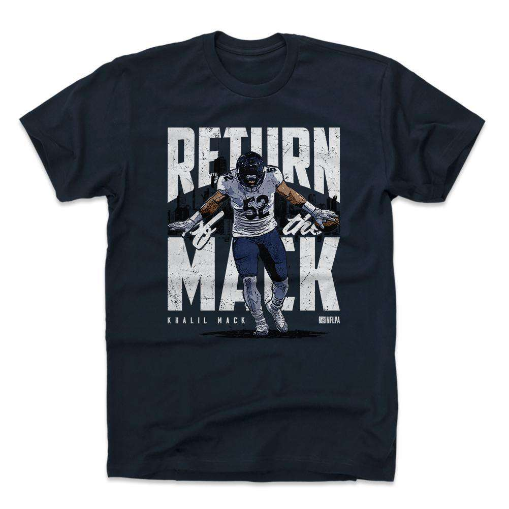 Khalil Mack Chicago Bears 500 Level NFL Return T-Shirt - Navy  f06cae3c0