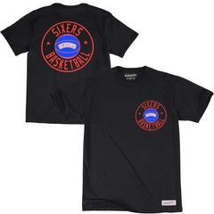 Philadelphia 76ers Mitchell & Ness NBA Full Circle T-Shirt - Black