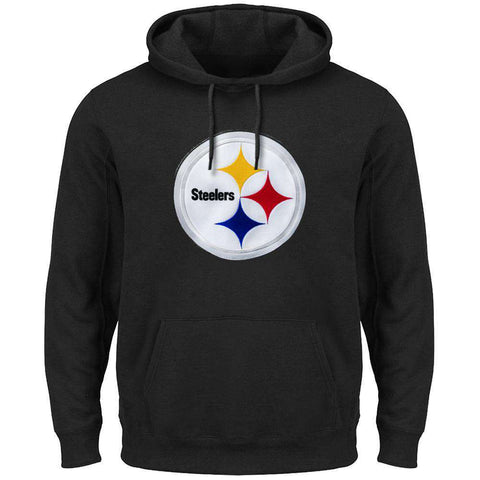 Pittsburgh Steelers Majestic NFL Tek Patch Hoodie Jumper - Black