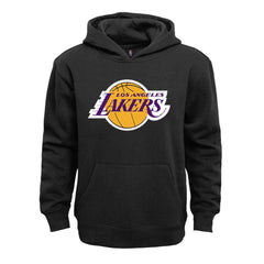 Youths Los Angeles Lakers Outerstuff NBA Primary Logo Hoodie Jumper - Black