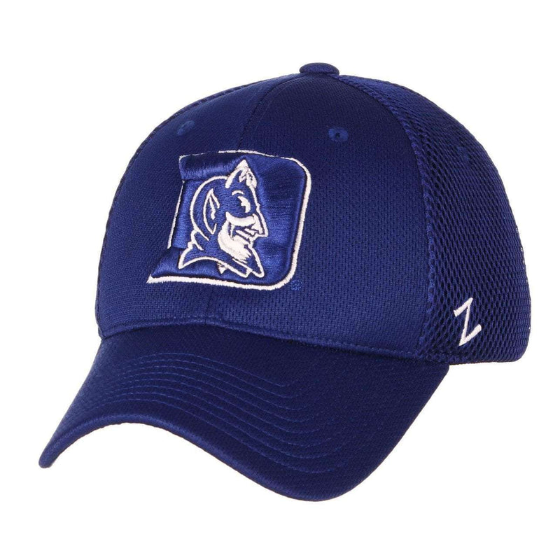 Duke Blue Devils Zephyr NCAA Foam Tech Mesh Curved Snapback Hat - Blue