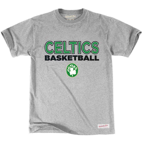 Boston Celtics Mitchell & Ness NBA Pure Shooter T-Shirt - Grey