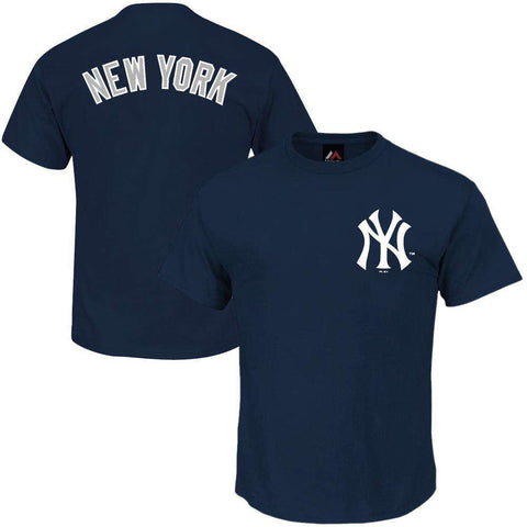 New York Yankees Majestic MLB Gamily Logo T-Shirt - Navy