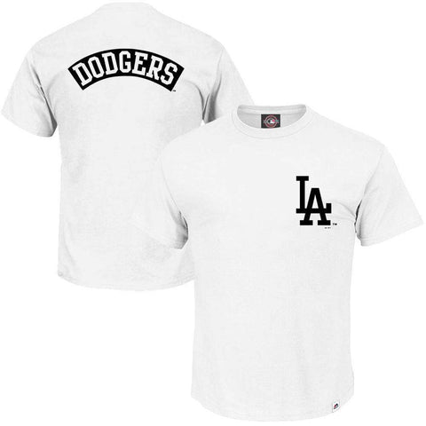 Los Angeles Dodgers Majestic MLB Finter T-Shirt - White