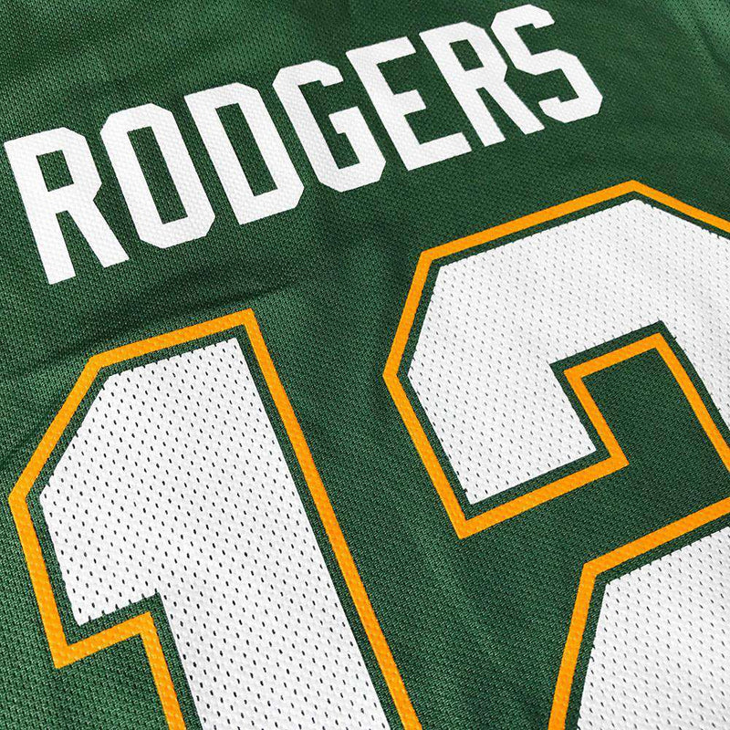 Aaron Rodgers Green Bay Packers Majestic NFL Hashmark Jersey - Green