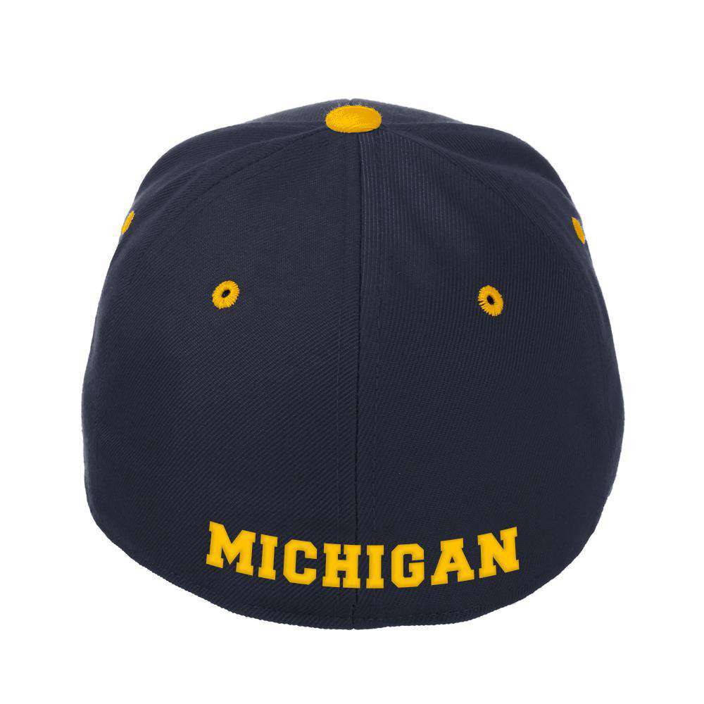 super popular 58c4e e3a78 Michigan Wolverines Zephyr NCAA ZH Team Classic Stretch Fit Curved Hat -  Navy