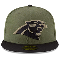 Carolina Panthers New Era NFL 2018 Salute To Service 59FIFTY Fitted Hat - Olive